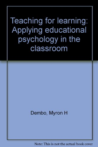 9780830288564: Teaching for learning: Applying educational psychology in the classroom