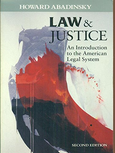 9780830412280: Law and Justice: Introduction to the American Legal System