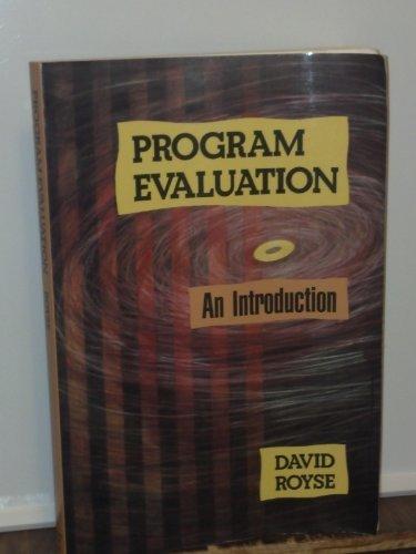 9780830412457: Program Evaluation: An Introduction