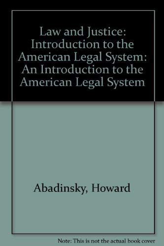 9780830414147: Law and Justice: An Introduction to the America Legal System
