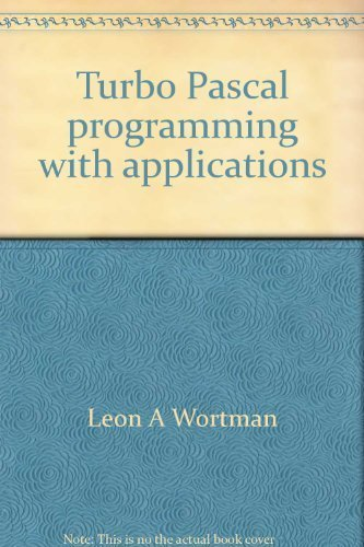 9780830602278: Turbo Pascal programming with applications