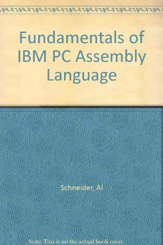 9780830607105: Fundamentals of IBM PC Assembly Language