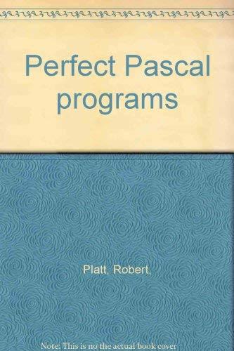 9780830608942: Perfect Pascal programs