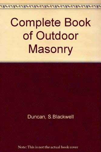 9780830610808: Complete Book of Outdoor Masonry