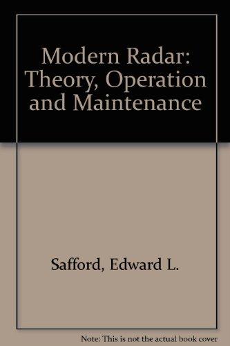 9780830611553: Modern Radar: Theory, Operation and Maintenance