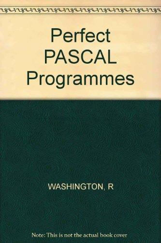 9780830618941: Perfect PASCAL Programmes