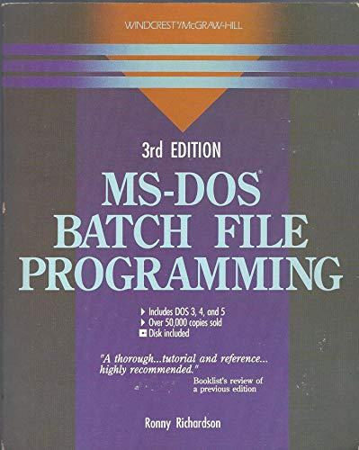 9780830624836: MS-DOS Batch File Programming