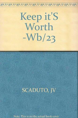 Keep it'S Worth -Wb/23: JV SCADUTO