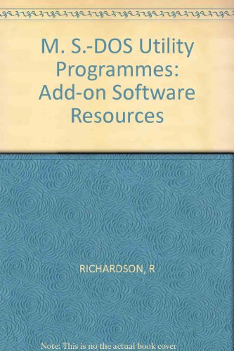 9780830632787: M. S.-DOS Utility Programmes: Add-on Software Resources