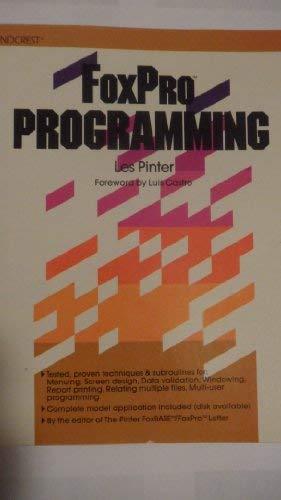 9780830635252: Foxpro Programming - AbeBooks - Les Pinter: 0830635254