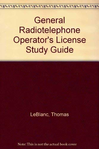 9780830635559: General Radiotelephone Operator's License Study Guide