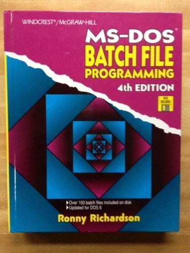 9780830645886: MS-DOS Batch File Programming