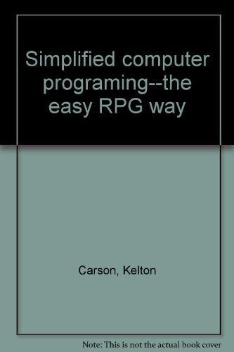 9780830646760: Simplified computer programing--the easy RPG
