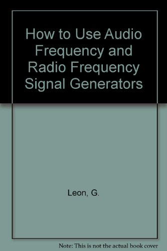 9780830669271: How to Use AF & RF Signal Generators