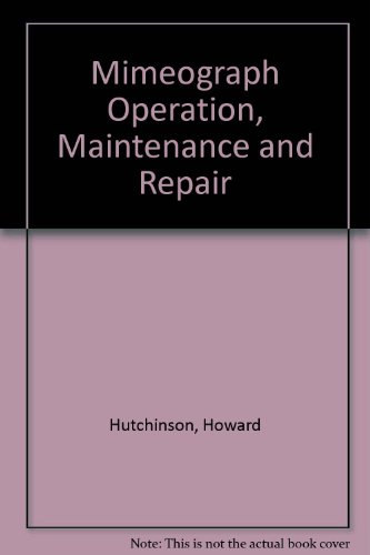 9780830679416: Mimeograph Operation, Maintenance and Repair