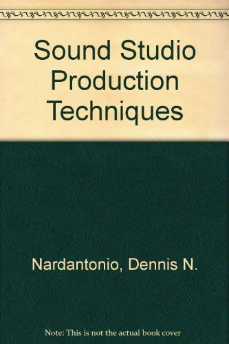 9780830692507: Sound Studio Production Techniques