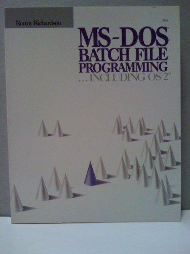 9780830693283: MS-DOS Batch File Programming
