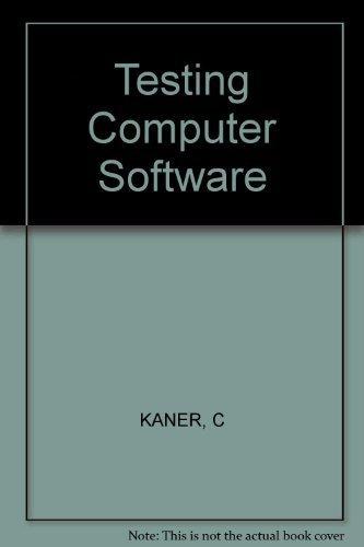 Testing Computer Software {FIRST EDITION}: Kaner, Cem , Jack Falk