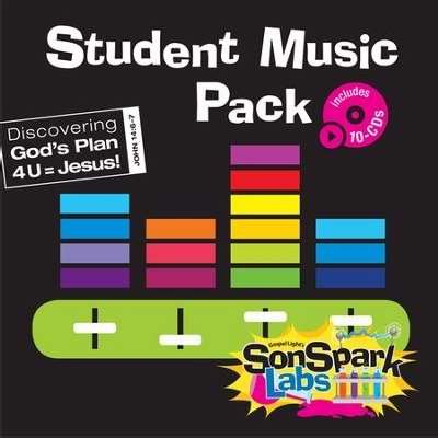 9780830768189: VBS - SonSpark Labs - Student Music CD (Pack Of 10)