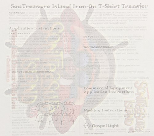 9780830769421: 2014 SonTreasure Island Iron-On Transfer Package of 10