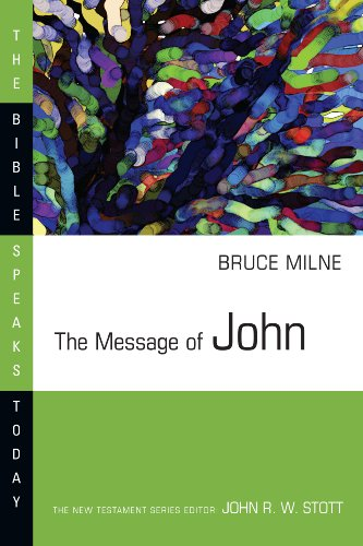 9780830812332: The Message of John: Here is Your King! :with Study Guide (The Bible Speaks Today)