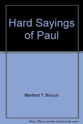 9780830817450: Hard Sayings of Paul