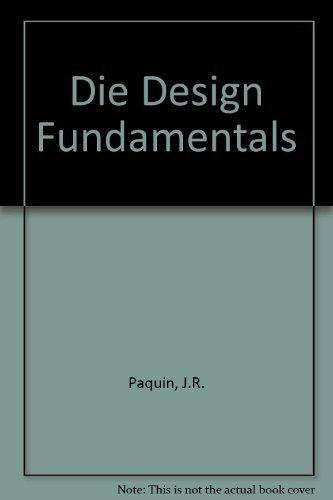 9780831110109: Die Design Fundamentals