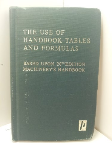 The Use of Handbook Tables and Formulas: Franklin Day Jones;
