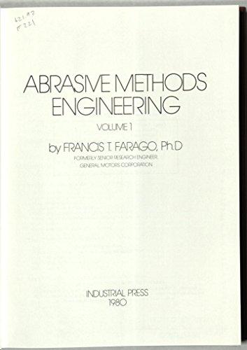 9780831111120: Abrasive Methods Engineering