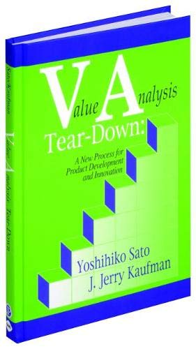 9780831132033: Value Analysis Tear-Down