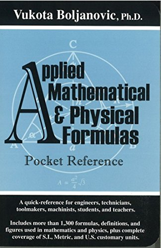 9780831133092: Applied Mathematical and Physical Formulas Pocket Reference