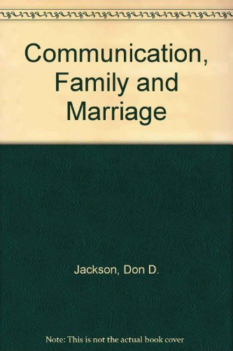 9780831400156: Communication, Family and Marriage
