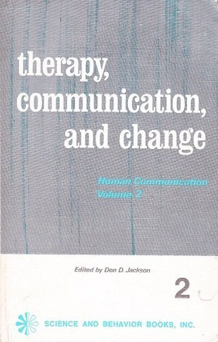 9780831400163: Therapy, Communication and Change, Vol. 2