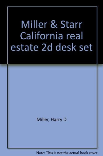Miller & Starr California real estate 2d: Harry D Miller