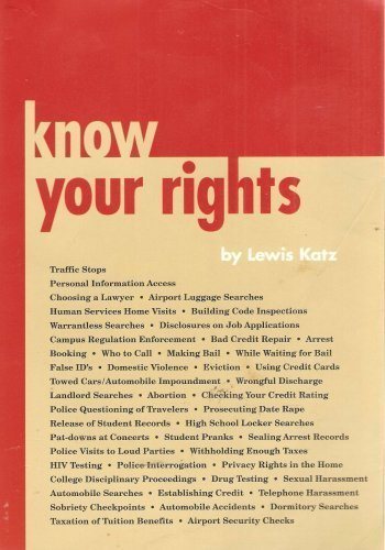 9780832204500: Know Your Rights