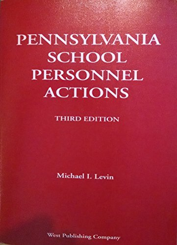 9780832205118: Pennsylvania school personnel actions