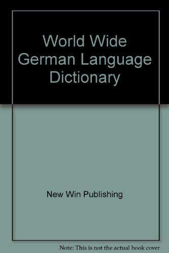 9780832996870: World-Wide German Dictionary: German-English/English-German