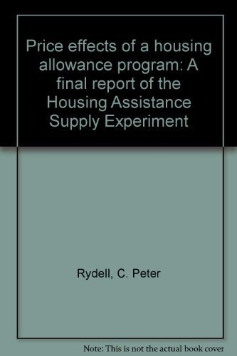 Price effects of a housing allowance program: A final report of the Housing Assistance Supply ...