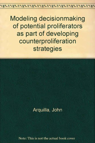 Modeling decisionmaking of potential proliferators as part of developing counterproliferation ...