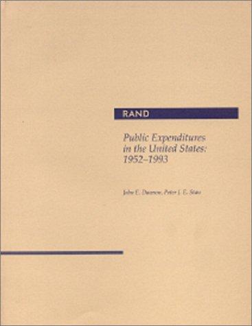 Public Expenditures in the United States: 1952-1993: Dawson, John E.,
