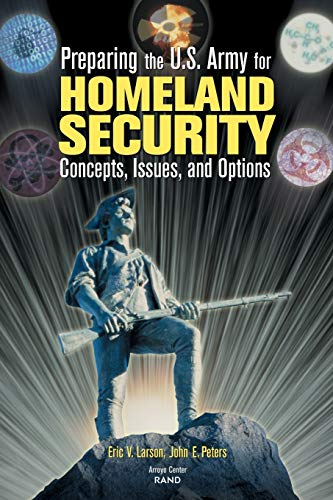 9780833029195: Preparing the U.S. Army for Homeland Security: Concepts, Issues, and Options