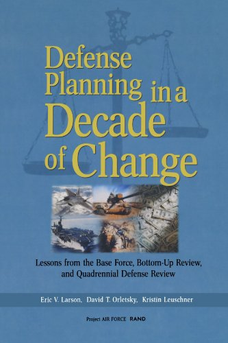 9780833030245: Defense Planning in a Decade of Change: Lessons from the Base Force, Bottom-Up Review, and Quadrennial Defense Review