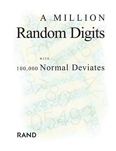 9780833030474: A Million Random Digits With 100,000 Normal Deviates