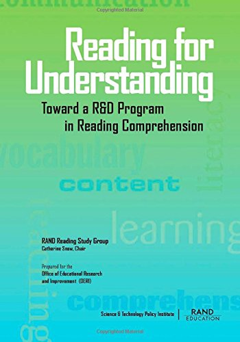 9780833031051: Reading for Understanding: Toward an R & D Program in Reading Comprehension