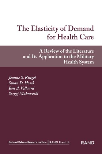 9780833031099: The Elasticity of Demand for Health Care: A Review of the Literature and Its Application to the Military Health System