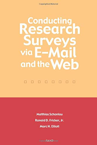 9780833031105: Conducting Research Surveys via E-mail and the Web