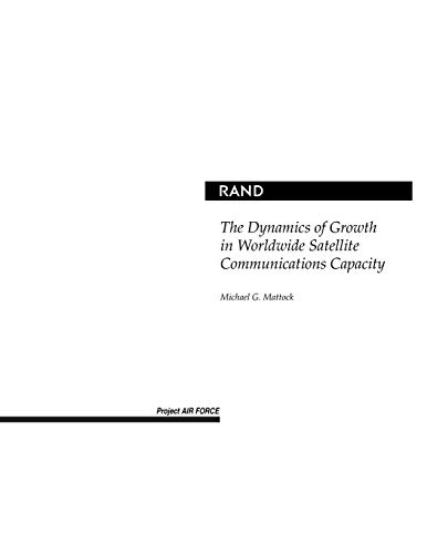 9780833032836: The Dynamics of Growth in Worldwide Satellite Communications Capacity