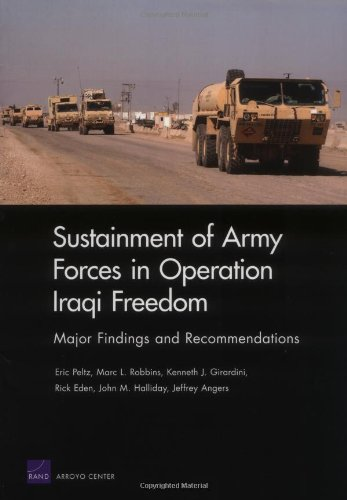 9780833037831: Sustainment of Army Forces in Operation Iraqi Freedom: Major Findings and Recommendations
