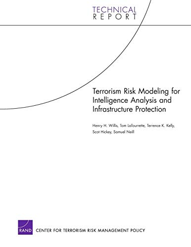 9780833039743: Terrorism Risk Modeling for Intelligence Analysis and Infrastructure Protection (Technical Report (RAND))