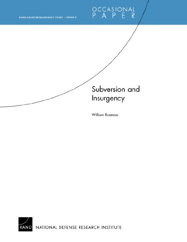 9780833041234: Subversion and Insurgency: RAND Counterinsurgency StudyÑPaper 2 (Rand Couterinsurgency Study)